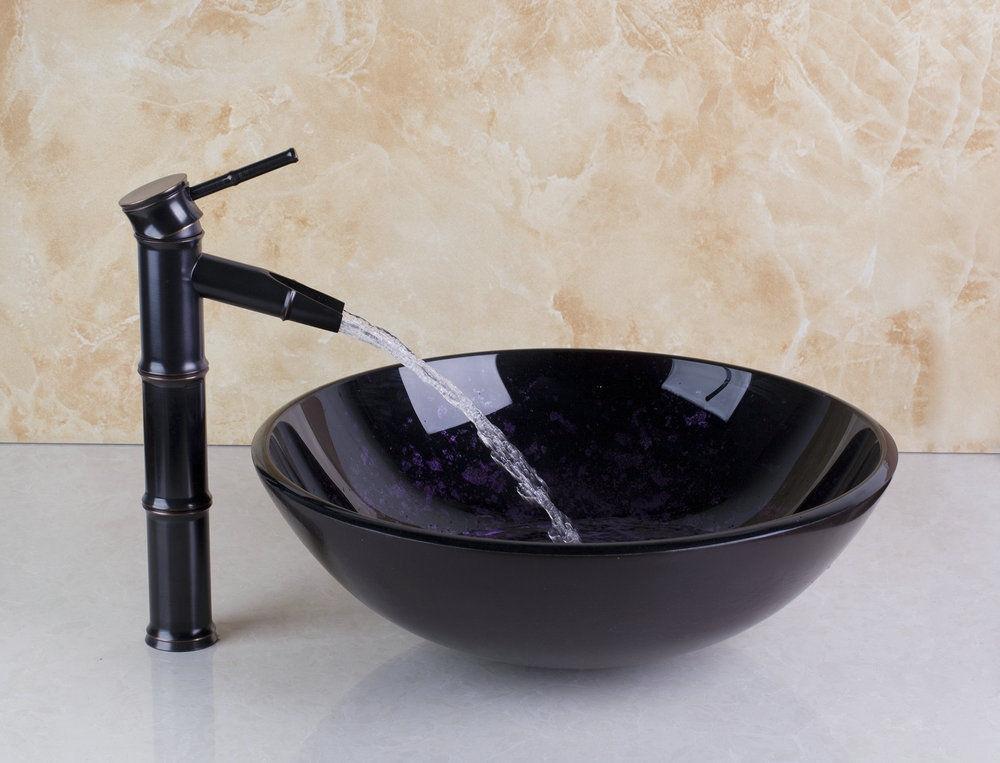 Nostalgische olie bronskleurige afgewerkte wastafel kraan for Waskom kraan hoog