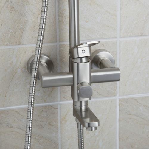 Voorkeur Geborsteld nikkel douche-set inclusief badkraan - Geborsteld YV58