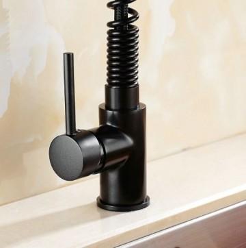Keukenkraan zwart draaibaar retro keukenkranen for Kraan zwart