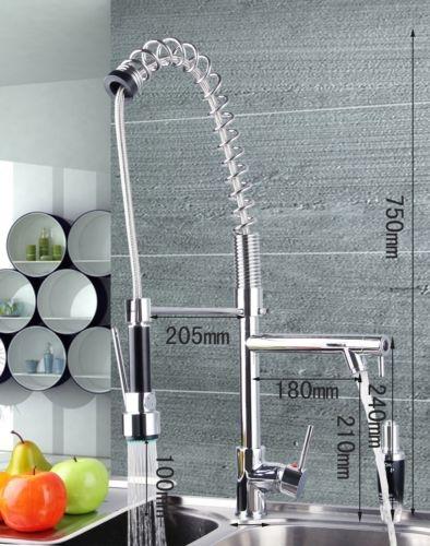 Keukenkraan Sproeikop : professionele design keukenkraan met aparte handbediening sproeikop